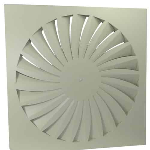 Curved Linear Diffuser : Curved vane swirl diffuser swc rcm products